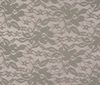 Grey Bi-Stretch Spandex Lace Fabric Flower Design